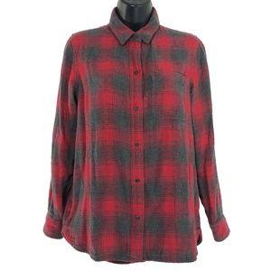 Madewell Ex-Boyfriend Shirt Lansing Plaid Small